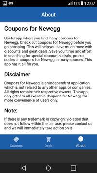 Coupons For Newegg screenshot 3