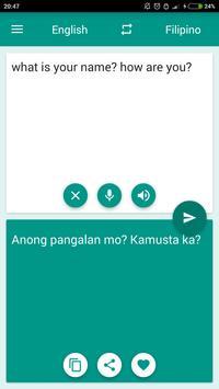 Filipino-English Translator poster