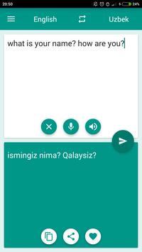 Uzbek-English Translator poster