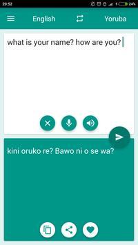 Yoruba-English Translator poster
