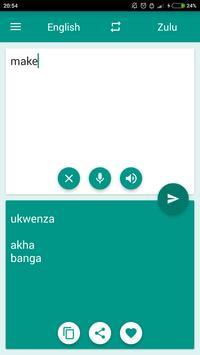 Zulu-English Translator apk screenshot