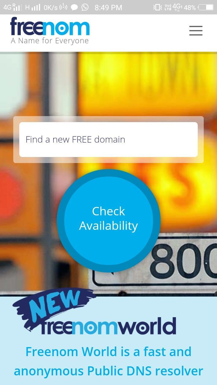 Freenom - Get 100% free domains for Android - APK Download