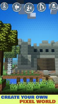 Minecraft pixel gun - сrafting new world craft poster
