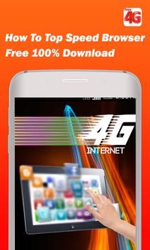Free Speed Browser 4G Guide poster