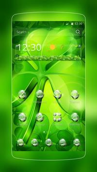 Green Nature Clover poster