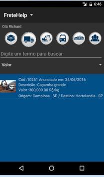 FreteHelp apk screenshot