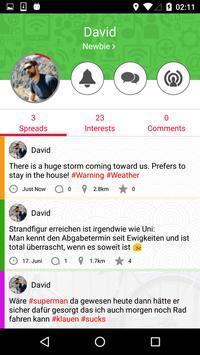 uSpread - The World Around You apk screenshot