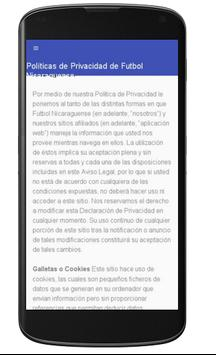 Futbol Nicaragua screenshot 1