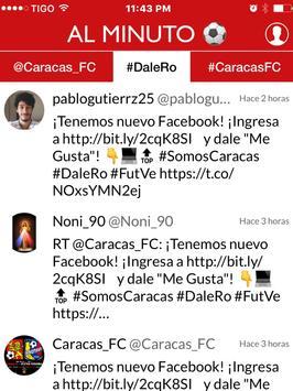 Caracas Noticias - Futbol del Caracas FC Venezuela apk screenshot