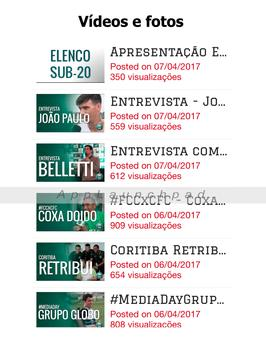 Coritiba Notícias - Glorioso Coxa-Branca Brasil apk screenshot