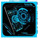 Technology Neon Blue APK