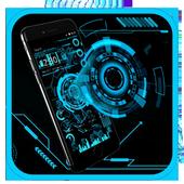 Technology Neon Blue icon
