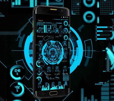 Technology Neon Blue screenshot 1