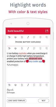Yo mail ! Email composer app screenshot 2