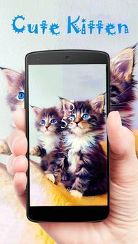 Fuzzy kitten cute pet theme poster