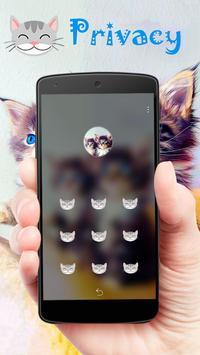 Fuzzy kitten cute pet theme apk screenshot