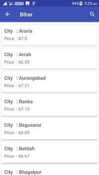 Daily fuel price India screenshot 2