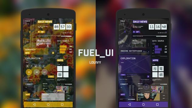 FuelUI KLWP poster
