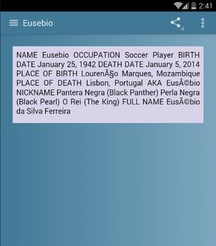 Eusebio screenshot 3