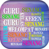 Word Art in Indonesian words,Indonesian Word Cloud icon