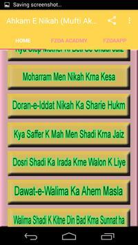 Ahkam E Nikah (Mufti Akmal) screenshot 1