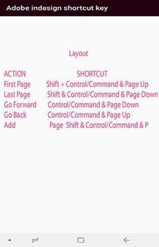 Adobe indesign cc shortcut key screenshot 3