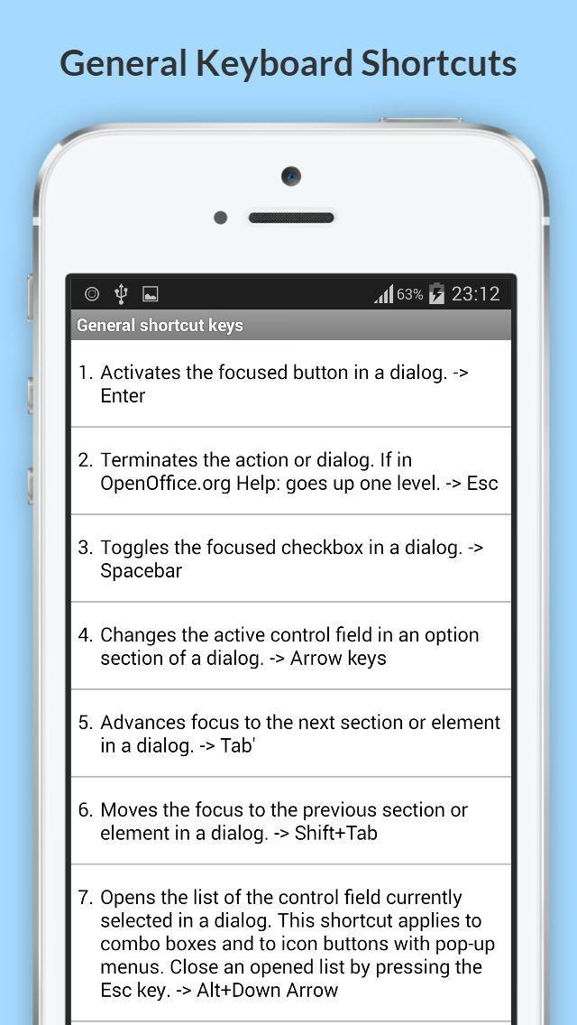 Free OpenOffice Shortcuts for Android - APK Download