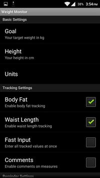 Weight Manager apk screenshot