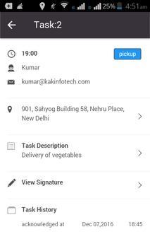 Kak Track Delivery App apk screenshot