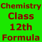 Chemistry 12 th CBSE Formulas icon
