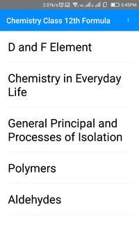 Chemistry 12 th CBSE Formulas screenshot 3