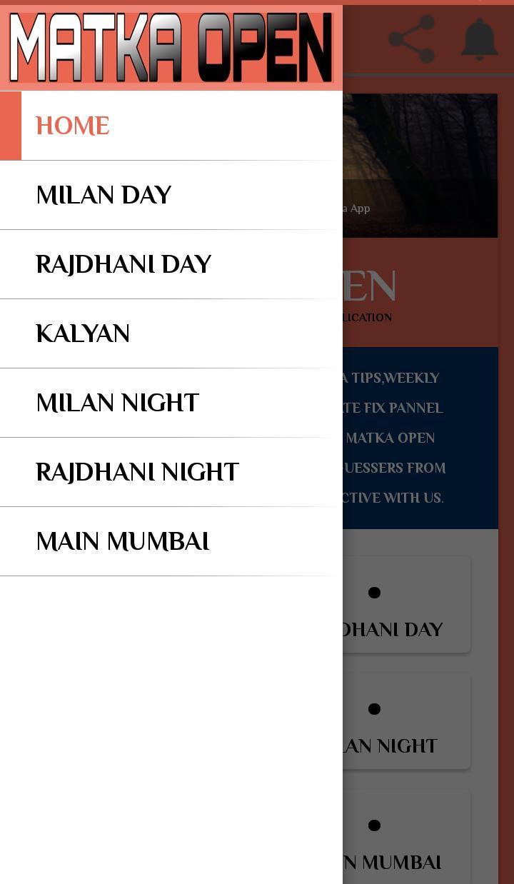 Matka OPEN Daily Kalyan Matka Main Mumbai Fix Open for Android - APK
