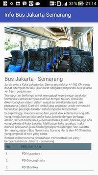 Jadwal - Bus Jakarta Semarang apk screenshot