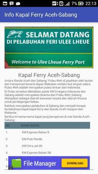 Jadwal - Ferry Aceh Sabang screenshot 2
