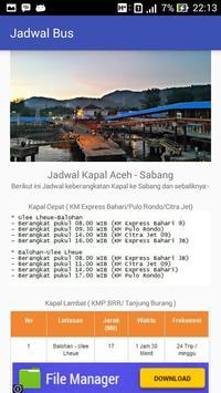 Jadwal - Ferry Aceh Sabang screenshot 3