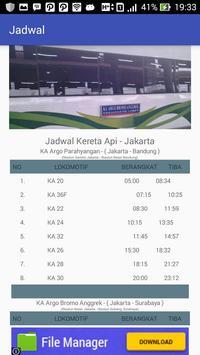 Jadwal - Kereta Api Jakarta apk screenshot