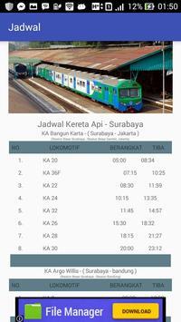 Jadwal - Kereta Api Surabaya screenshot 3