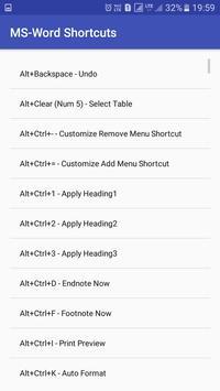 Office Shortcuts screenshot 3