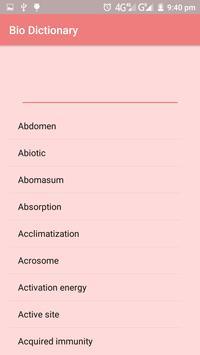 Biology Dictionary screenshot 1