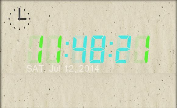 デジタルの時計 apk screenshot