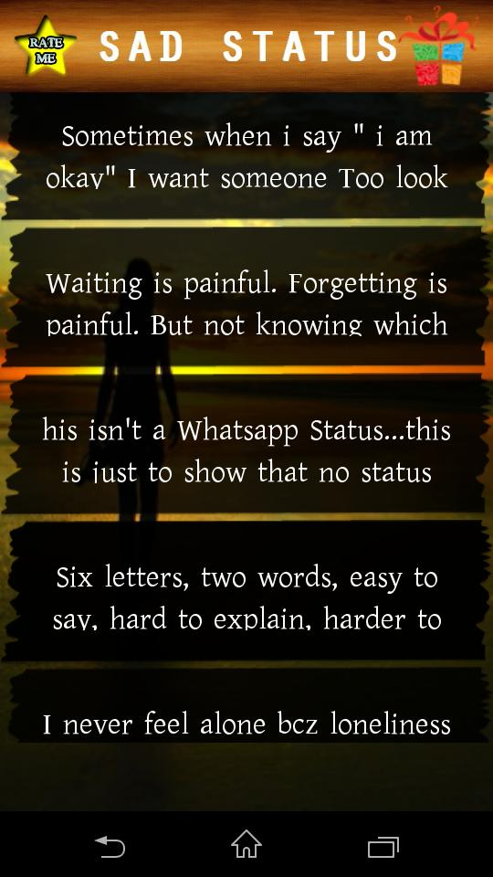 English Sad Status For Android Apk Download