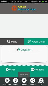 KAREIT Restaurant Finder screenshot 1