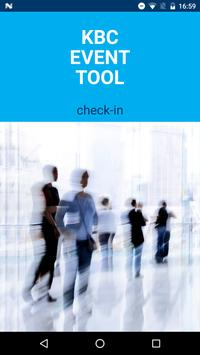 KBC EventTool Check-In poster