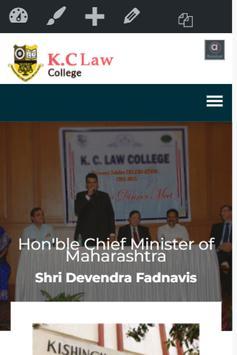 K.C Law College Mumbai poster