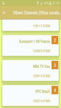 Hispasat 30°W Sports CH Freq. screenshot 3