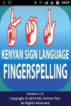 KSL Fingerspelling poster