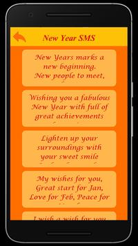 Happy New Year Wishes SMS poster