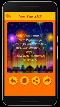 Happy New Year Wishes SMS screenshot 1