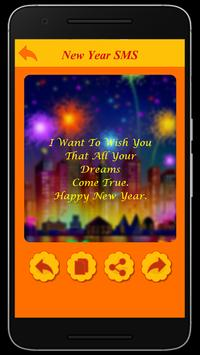 Happy New Year Wishes SMS screenshot 2