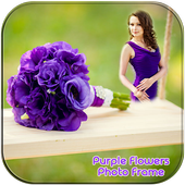 Purple Flower Photo Frames आइकन